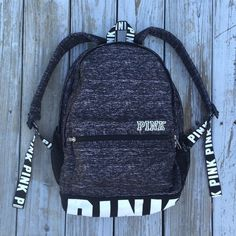MAKE OFFER! VS PINK Campus Backpack Like new. No flaws except for the tiniest bit of dirt on the white letters on the bottom of the bag (doesn't ever show up on picture) Only from setting it down maybe 4 times. Highest offer is $82 on ♏️ercari. Comment your offer down below! BEST OFFER WINS!!! and I will sell it to the highest offer when I get home this week. NO TRADES The reason I am looking for offers is because I know a lot of people are looking for this, and I want to give everyone a…