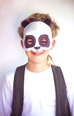 Print a paper panda mask with our simple DIY template!