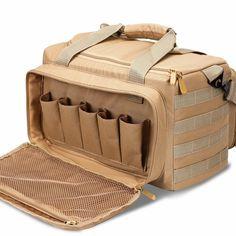 12a16feed071 Tactical Shooting Gun Range Bag Pistol Range Duffle Bags - Tan  fashion   clothing