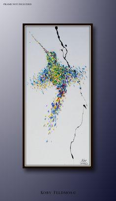 "Animal painting 60"" Humming bird Oil Painting, Original Art on Canvas , Hand made, by Koby Feldmos by KobyFeldmos on Etsy https://www.etsy.com/listing/196118555/animal-painting-60-humming-bird-oil"