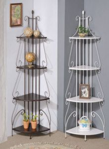 """NEW 73"""" WHITE METAL CORNER RACK PLANT STAND NICK NACK Corner Rack, Home Crafts, Diy Crafts, Plant Table, Nick Nacks, Plant Stands, Bookcase, Bedrooms, House Ideas"""