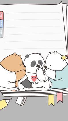 Cute Disney Wallpaper, Kawaii Wallpaper, Cute Wallpaper Backgrounds, Wallpaper Iphone Cute, Cute Cartoon Wallpapers, We Bare Bears Wallpapers, We Bear, Cute Notes, Bear Wallpaper