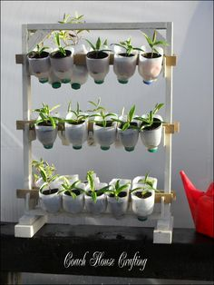 Garden Space Saver, Plastic Plant Labels, Recycled Plant Pot, Craft Storage  - 화분 거치대-