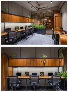 home decorators collection Office Wall Design, Corporate Office Design, Workspace Design, Office Workspace, Office Interior Design, Office Interiors, Office Cubicle, Office Setup, Office Designs