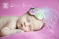 sleepy girl so sweet  #newborn #headband