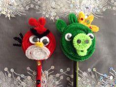 LÁPIZ DE ANGRY BIRDS DE LIMPIA PIPAS.By Elvia Padilla  Contacto: elii.padilla@hotmail.com