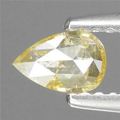 0.25ctw Natural Yellow Diamond Pear Loose Stone http://www.propertyroom.com/listing.aspx?l=9691051