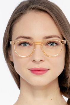 Glasses For Round Faces, Girls With Glasses, Clear Eyeglass Frames, Womens Glasses Frames, Vitamins For Skin, Round Eyeglasses, Prescription Lenses, Modern Frames, Eyewear