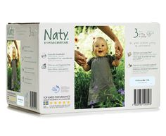 Naty Eco Couches - Box Taille 3. 4-9 kg, 9-20 lbs 72 pcs