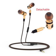Original PLEXTONE X46M Earphone With Mic In-Ear Removable HiFi Stereo Bass 3.5mm Wired Metal Earbuds Earphone For Mobile Phone #Affiliate