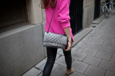 Caroline Blomst with Balenciaga city bag