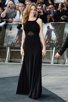 Angelina Jolie's Gorgeous First Post-Mastectomy Appearance in a Saint Laurent gown.