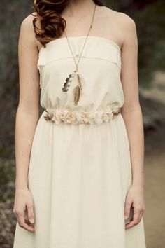 Amazing dresses for beach brides. Made of real silk for $480 by Katie Walker on Etsy. Switch the feathers and boots to shell jewelry and bare feet. You'll never need shoes on the white sugar sand of Fort Myers Beach. See everything at this great shop.