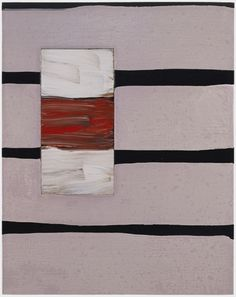 Sean Scully, Passenger Line Pink 2000 Oil on linen
