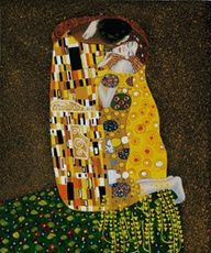 """""""The Kiss"""" by Gustav Klimt placed fifth on overstockArt.com's 2012 Top 10 list. Hand painted reproductions are available in a variety of sizes at overstockArt.com. #Top10 #art"""