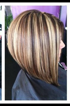 Long Inverted Stacked Bob Hairstyle