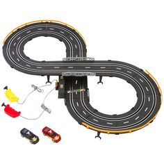 The electric race-car set. Soooo much excitement.