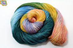 Darling It's Better, Down Where It's Wetter! - Fingering Sock Yarn READY to SHIP 100g 438yd 70% SW Merino 30 Silk 1 ply Heavy Twist Single