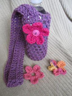 Crocheted water bottle holder