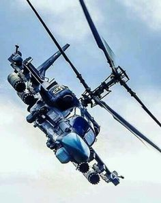 "Kamov Alligator, side by side 2 seater version of tbe ""Hokum"". Attack Helicopter, Military Helicopter, Military Jets, Military Weapons, Military Aircraft, Air Fighter, Fighter Jets, Avion Jet, Airplane Fighter"