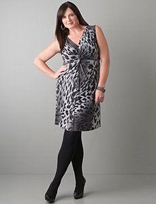 Twist front leopard dress by Lane Bryant