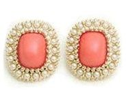 coral & pearl earrings, love love love these!