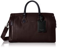 Ted Baker Men's Color Block Holdall Bag, Oxblood, One Size
