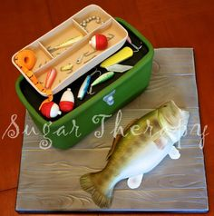 Trout and tackle box cake by Sugar Therapy