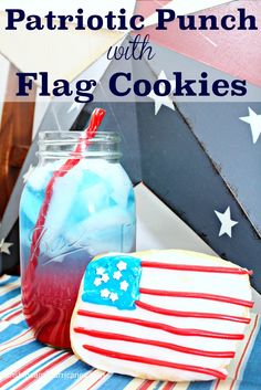 Celebrate the red, white, and blue this Summer with 2 easy recipes everyone will love! Our layered Patriotic Punch With Flag Cookies are simple to create and delicious to enjoy! Fourth of July parties will be extra fun if you set up these activities to keep the kids busy while the adults man the grill! #ad #TwizzlersSummer