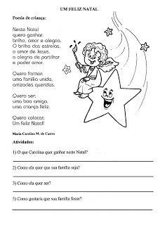 Natal Produção de Texto Interpretação de Texto Atividades Exercícios papai noel rena trenó imprimir (3)