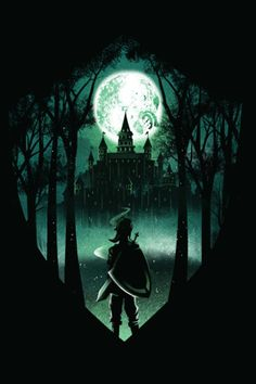 Pop Culture Negative Space Illustrations: The Legend of Zelda - Dan Elijah Art Harry Potter, Harry Potter Painting, Harry Potter Universal, Slytherin, Hogwarts, Zelda Tattoo, Hero Poster, Harry Potter Background, Desenhos Harry Potter