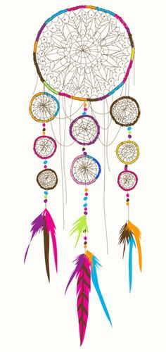 Colourful dreamcatcher