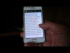 Demo: e-kirjan lukeminen puhelimella