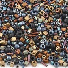 Seed Beads-Various Shapes-04 Flat Iron-Multi Mix-Miyuki