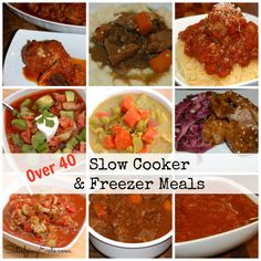 40 Slow Cooker & Freezer Meals | www.satisfyingeats.com