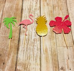 Luau Party Tropical birthday party Flamingo party by HappyGnG