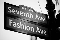 Fashion / Seventh Avenue (black & white) @ New York City, USA Motto, Air Max 90, Nike Air Max, I Love Ny, City That Never Sleeps, Concrete Jungle, Nyc Fashion, Fashion Outfits, Street Signs