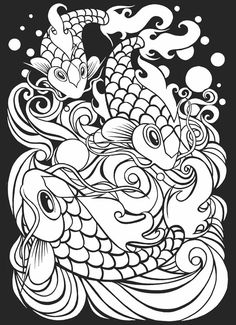 Japanese Tattoo Art Stained Glass Coloring Book from Dover Publications weekly samples