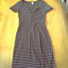 Blue and white striped dress from American Apparel Cute striped dress from American Apparel in size medium. American Apparel Dresses Midi