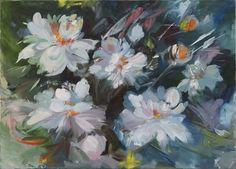 Ölbild.Yaroslavskaya.Blume