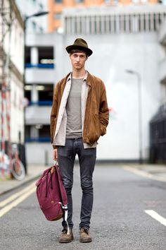 The 21 Most Fashionable Fellas In London #refinery29  http://www.refinery29.com/london-mens-fashion#slide14  The casual elegance of this look floats our boat.