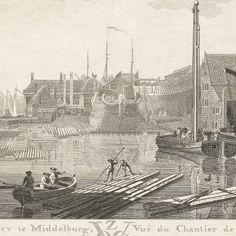 Gezicht op de VOC werf te Middelburg, Jan Arends, 1778 - Zoeken - Rijksmuseum