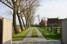 Lieselot Sys Tuin- en Landschapsarchitectuur, Landschapstuin met weids verzicht, landelijke tuin, karrenspoor, rododendrons, landelijk karakter, landschapstuin