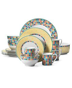"Villeroy & Boch ""Twist Alea"" 18-Piece Dinnerware Set - Casual Dinnerware - Dining & Entertaining - Macy's"