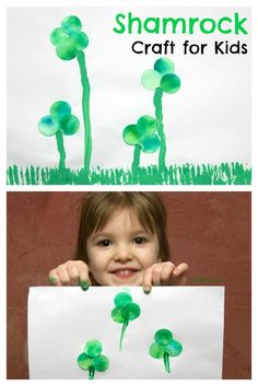 We had fun using Bleeding Art Tissue Paper to create this cute little Shamrock Craft for Kids - My Little Me