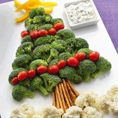 Remember your veggies this Christmas! Your kids will love helping you make this!