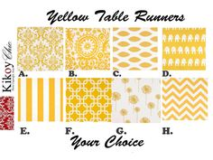 Yellow Table Runner.Yellow Chevron Table Runner. by KikoyChic, $15.00