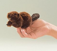 Mini Beaver Finger Puppet at theBIGzoo.com, a toy store featuring 3,000+ stuffed animals.