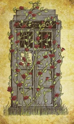 I kind of love this...  Doctor Who print - Rose - Dr Who Tardis inspired A3 art poster. £11.00, via Etsy.