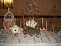 Vintage Wedding Place Card Table